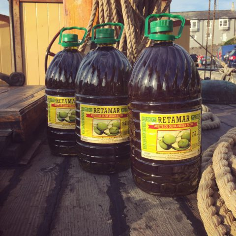 New Dawn Traders Olive Oil Delivery with Nordlys Ship
